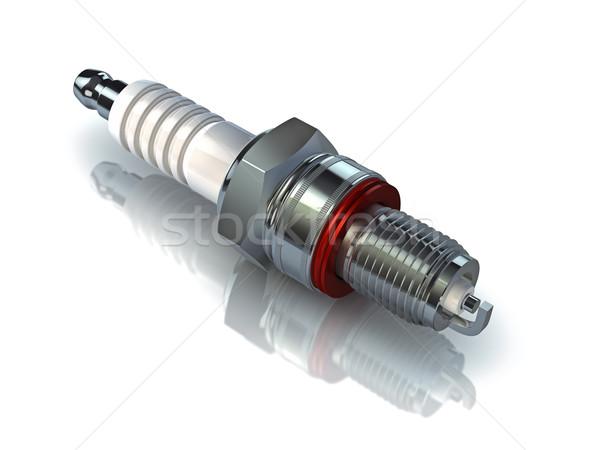 Susciter plug blanche 3D voiture Photo stock © reticent
