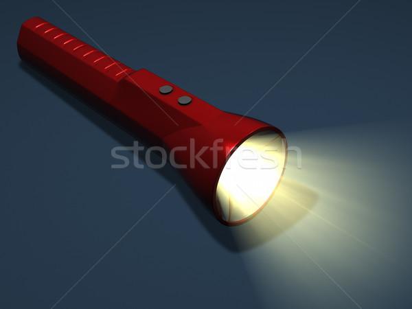 Lampe de poche 3d illustration lumière poutre électricité outil Photo stock © reticent