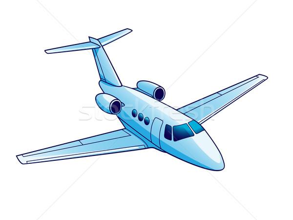 Avion illustration isolé blanche vitesse air Photo stock © reticent