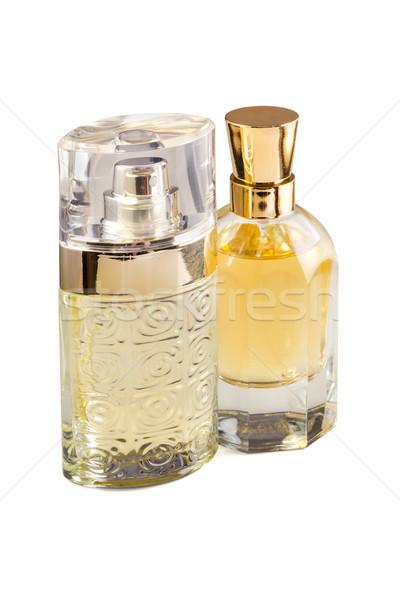 Perfumaria dois perfume garrafas branco beleza Foto stock © reticent