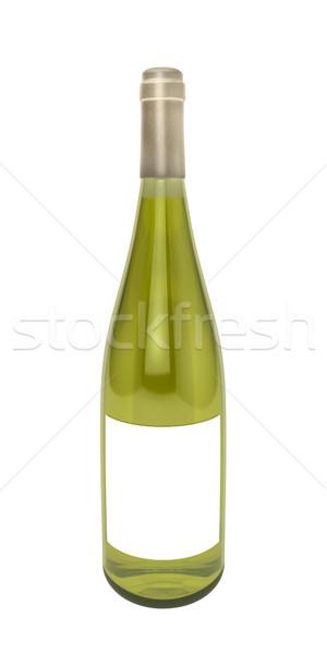 Bottiglia bottiglia di vino bianco vino bianco bianco bere alcol Foto d'archivio © reticent