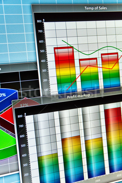 Screenshot abstract business diagrammen computer frame Stockfoto © reticent