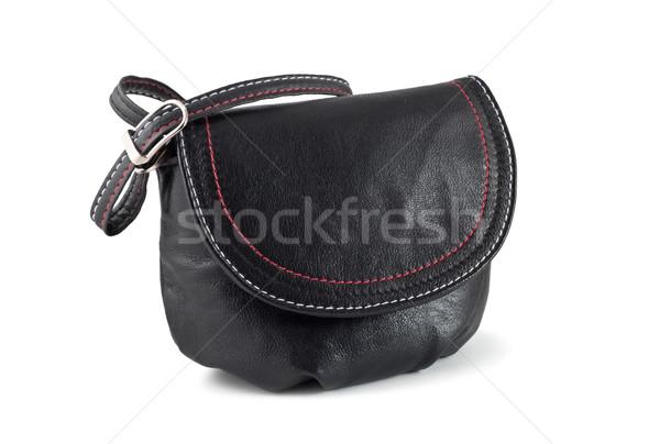 Bolsa pequeno preto isolado branco compras Foto stock © reticent