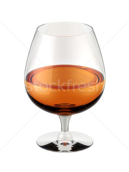 Brandewijn glas witte 3d illustration wijn alcohol Stockfoto © reticent