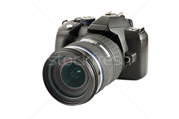 Digitális fényképezőgép lencse izolált fehér digitális profi Stock fotó © reticent