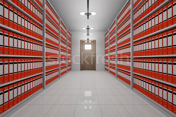 Arşiv oda ofis belgeler iş mobilya Stok fotoğraf © reticent