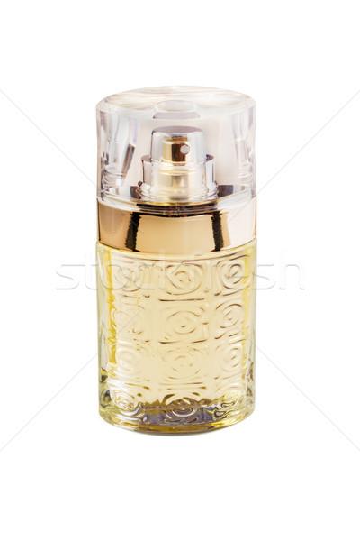 Perfumaria perfume garrafa branco beleza ouro Foto stock © reticent