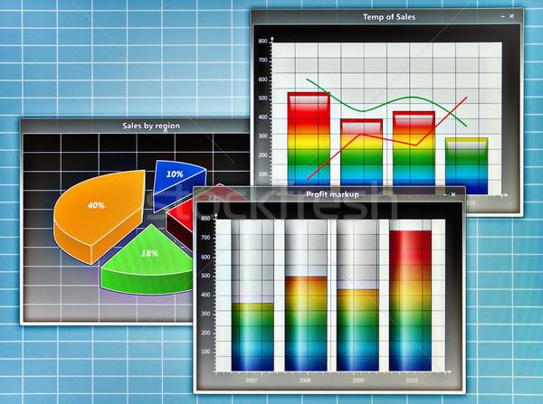 スクリーンショット 抽象的な ビジネス ダイアグラム コンピュータ フレーム ストックフォト © reticent