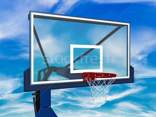 Basket cielo blu sport giocare basket bordo Foto d'archivio © reticent