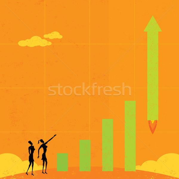 Empresárias ver Foto stock © retrostar