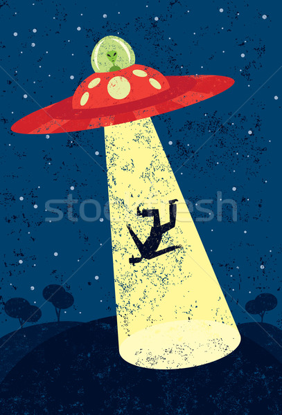 Alien Abduction Stock photo © retrostar