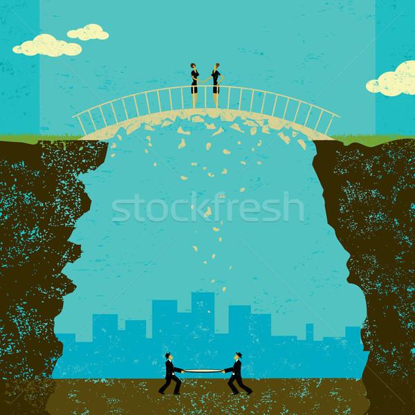Negocios acuerdo dos empresarias acuerdo Foto stock © retrostar