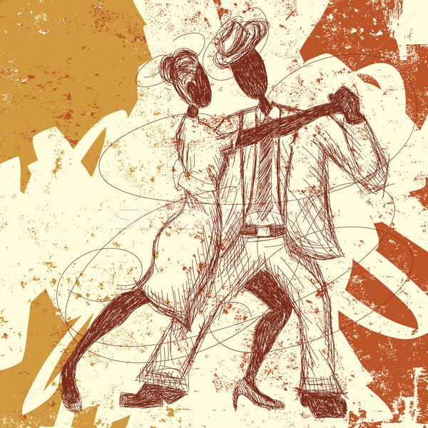 Tango amantes casal dança abstrato Foto stock © retrostar
