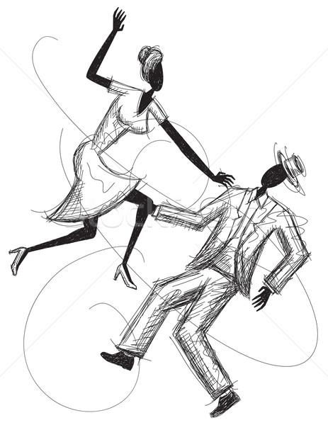 Dancing Couple Stock photo © retrostar