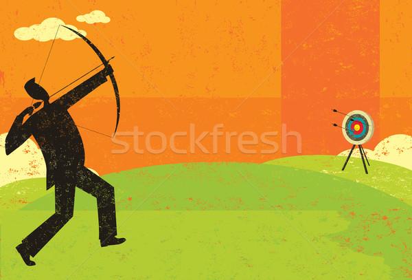 Trying to hit the bull's eye Stock photo © retrostar