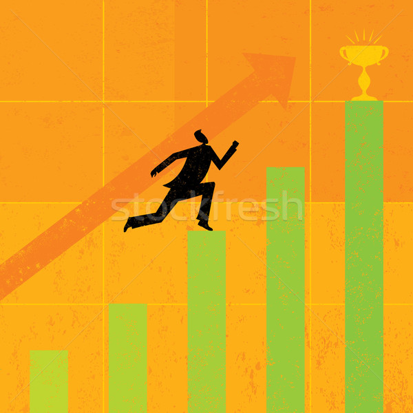 Striving for Higher Profits Stock photo © retrostar