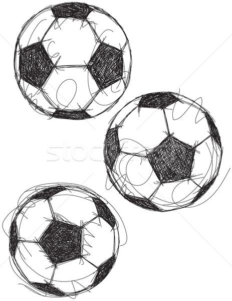 Futebol futebol desenho Foto stock © retrostar
