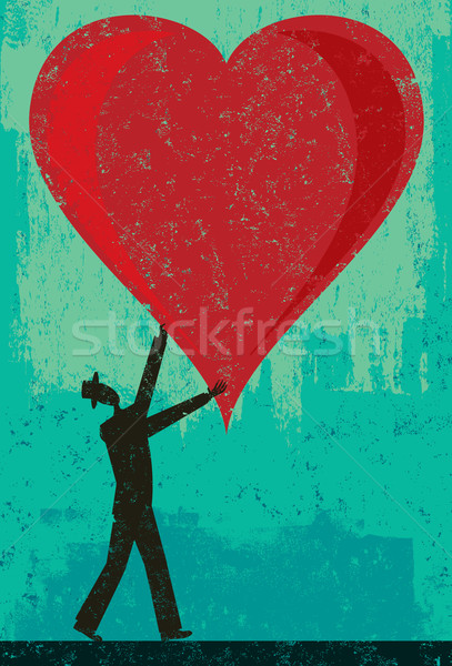 человека большой сердце аннотация отдельный Сток-фото © retrostar