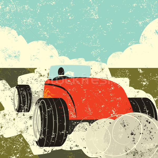 Conducción hot rod persona lejos rápido edad Foto stock © retrostar