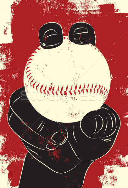 Baseball hand vector Stockfoto © retrostar