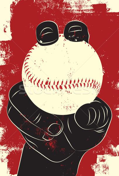 Beisebol mão vetor Foto stock © retrostar