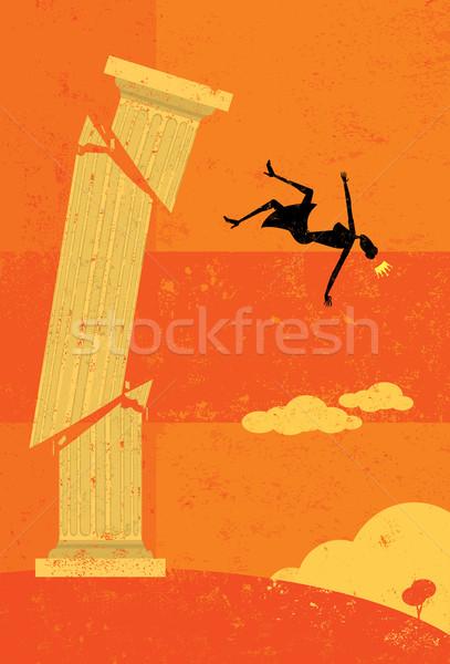 Knocked off the pedestal Stock photo © retrostar