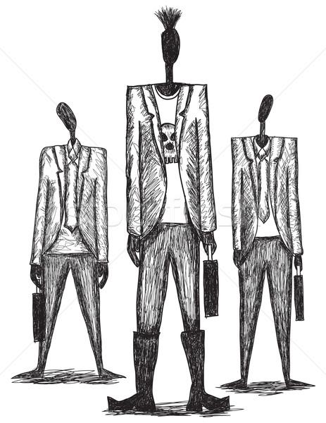 мятежник вызывать панк бизнесмен любопытство два Сток-фото © retrostar