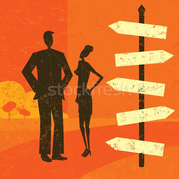 Destino hombre mujer mirando Foto stock © retrostar
