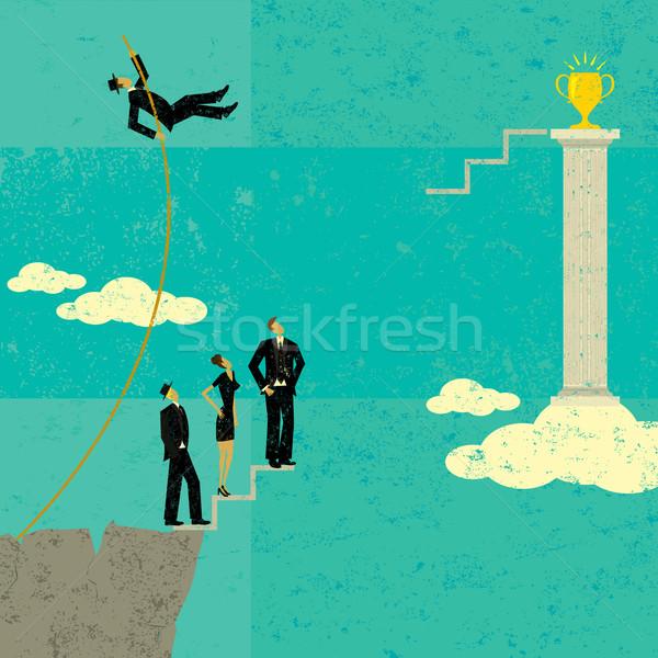 Overcoming Obstacles Stock photo © retrostar