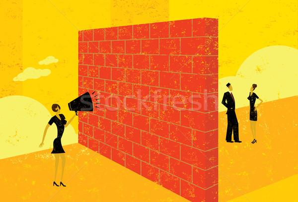 Shouting at a brick wall Stock photo © retrostar