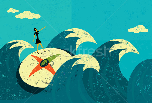 Searching for revenue in unchartered waters Stock photo © retrostar