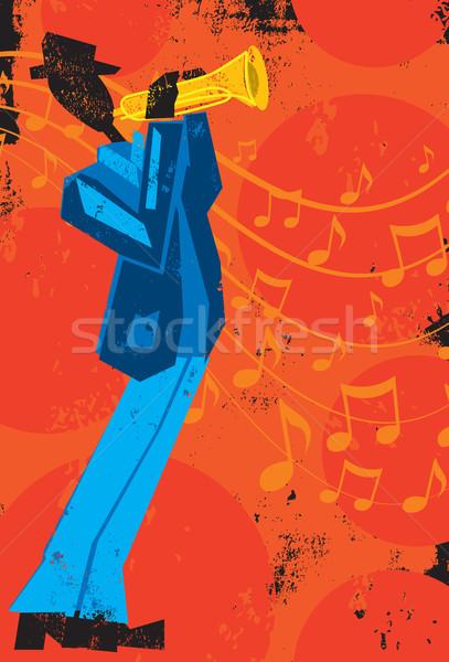 Trumpet Player Stock photo © retrostar