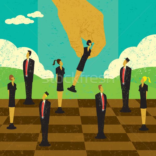 Stratégique gestion décisions main déplacement Photo stock © retrostar