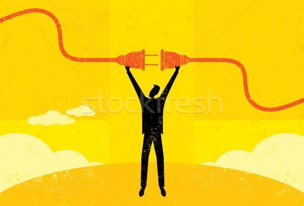 Getting plugged in Stock photo © retrostar
