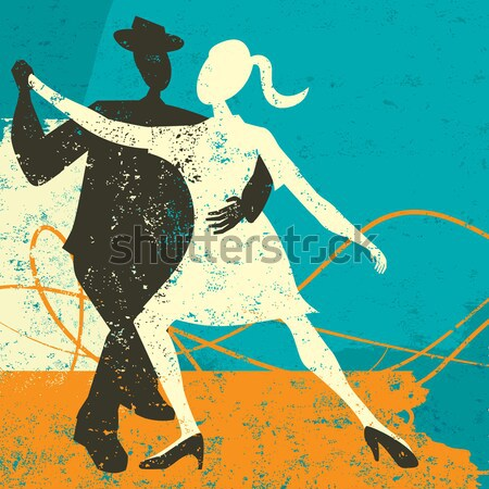 Retro couple dancing Stock photo © retrostar
