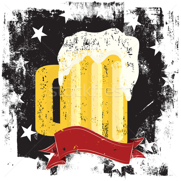 Beer mug insignia Stock photo © retrostar