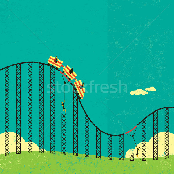 Support in a roller coaster economy Stock photo © retrostar