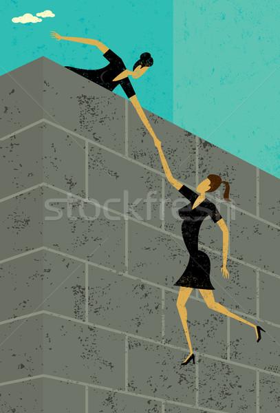 Getting some help Stock photo © retrostar