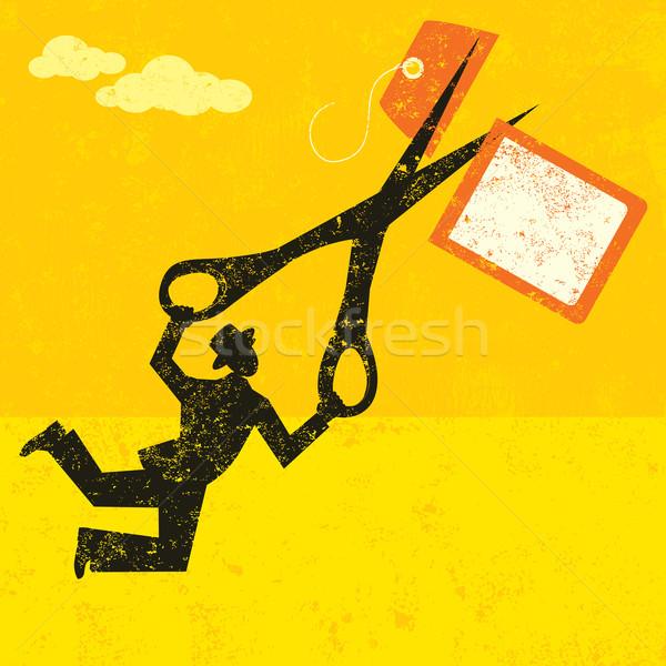 Alto preços empresário preço membro Foto stock © retrostar