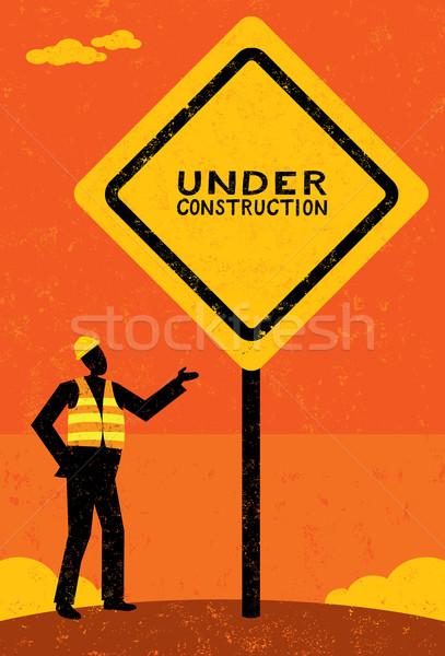 Under Construction Stock photo © retrostar