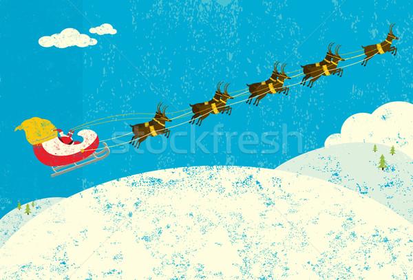 Santa and his Reindeer Stock photo © retrostar