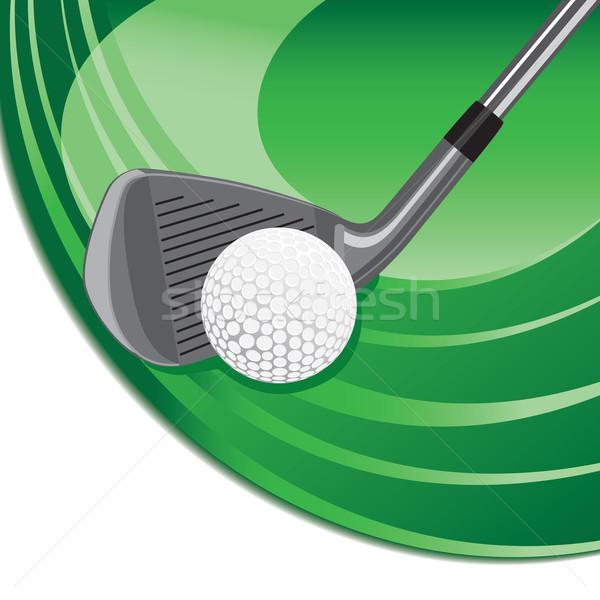 Iron hitting a golf ball Stock photo © retrostar