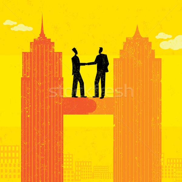 Business Merger Stock photo © retrostar