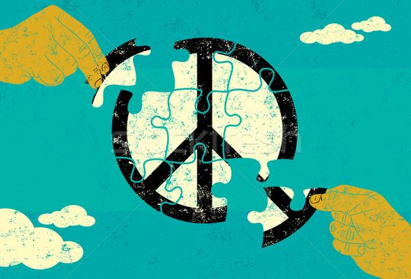 Solution for Peace Stock photo © retrostar