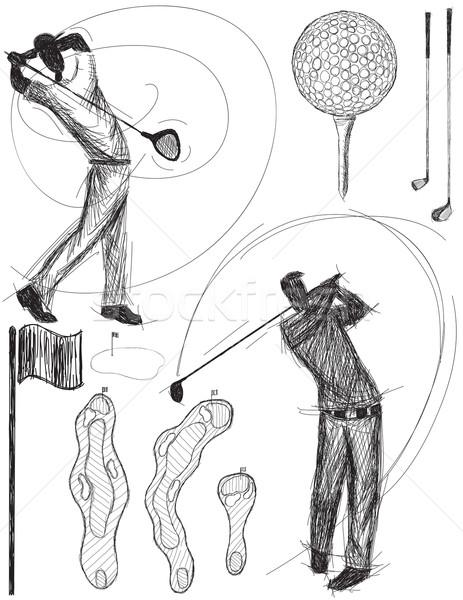 ゴルファー 手描き その他 ゴルフ 図面 ストックフォト © retrostar