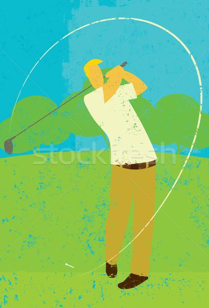 Golfer teeing off Stock photo © retrostar
