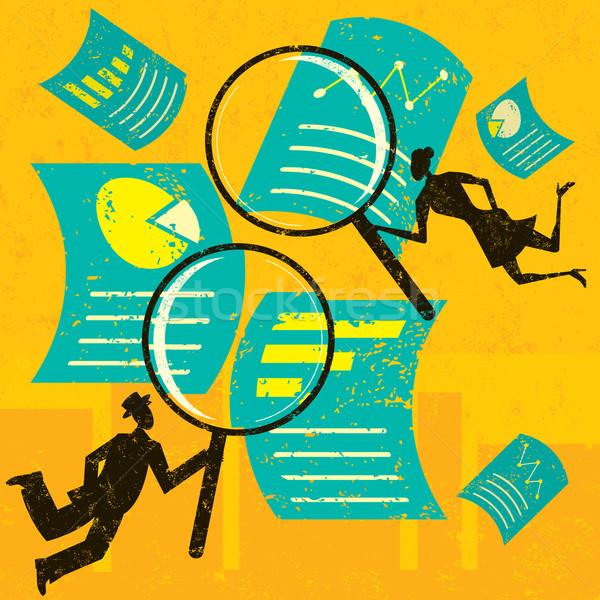 Examining Financial Documents Stock photo © retrostar