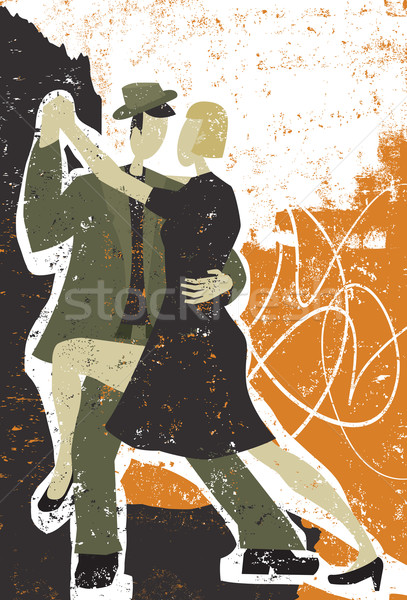 Deux personnes danse tango homme couple cool Photo stock © retrostar