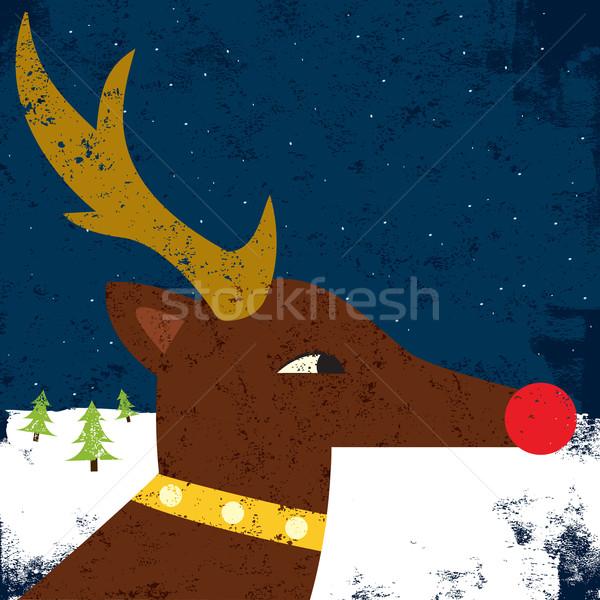 Retrato rena inverno vermelho natal férias Foto stock © retrostar