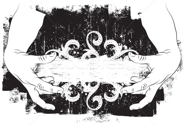 Ramki ręce dwa koncentruje około Zdjęcia stock © retrostar